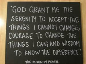 serenity prayer on blackboard